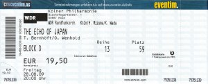 Ticket Echo of Japan, Cologne, Germany